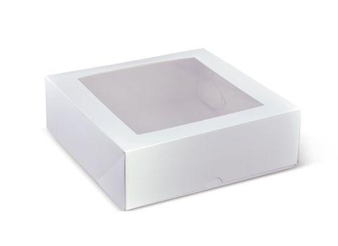 "Cake Box Square 9"" Window 230x230x75"