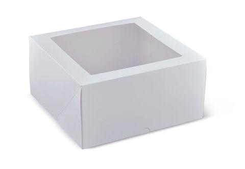 "Cake Box Square 9"" Window 230x230x120"