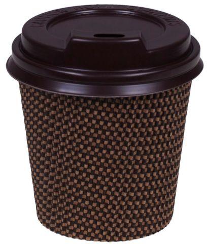 12oz Brown Checka Cups