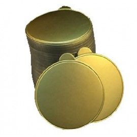 """Gold Cake Board Round 4"""" With Tab Handle"""