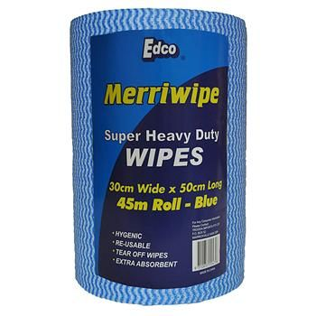 Heavy Duty Wipes On Roll Blue (Edco)