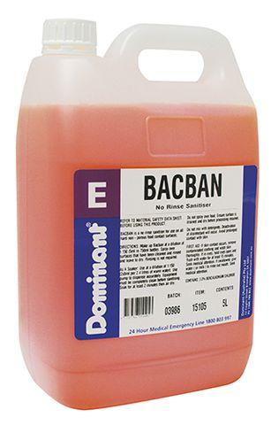 Bacban Non Rinse Sanitiser 5Ltr