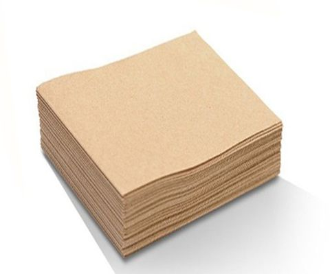 2Ply Lunch Napkins Brown 1/4 Fold -Carton