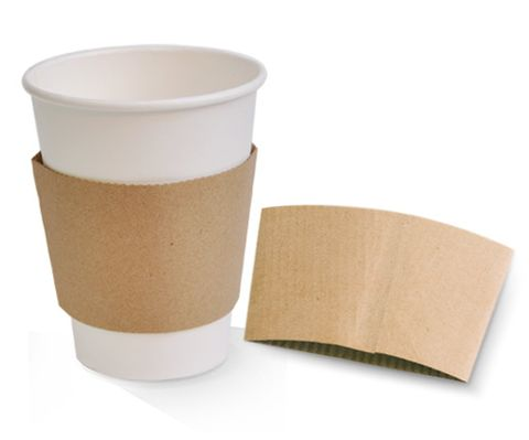 Brown Kraft Paper Sleeve to suit Single Wall Cups 12/16oz