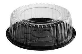 Cake Dome Round 216 x 75Mm High With Black Base