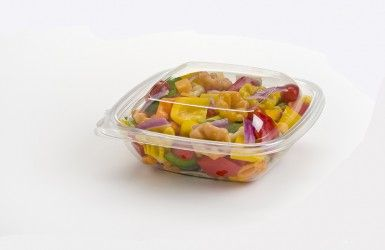Clear 250ml Square Tub. Secure