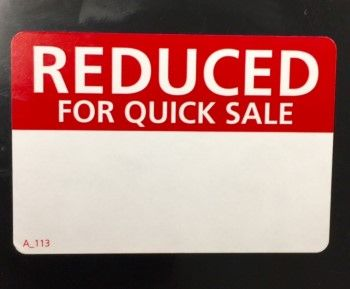 Printed Labels Reduced For Quick Sale