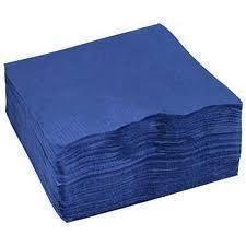 2Ply Napkins Dinner Blue-Sleeve