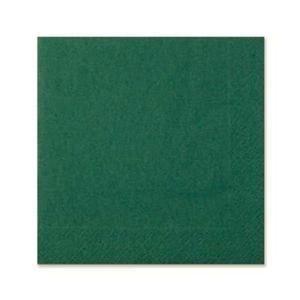2Ply Napkins Dinner Dark Green - Sleeve