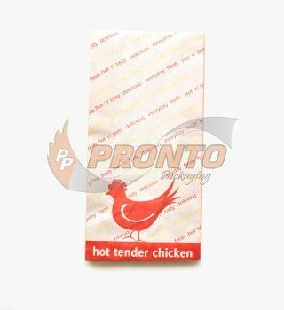 Large Chicken Bag Paper/Wax -340 x 167 x 77mm