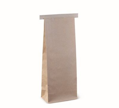 1kg Tin Tie Bag - Brown 327 x 127 x 76mm