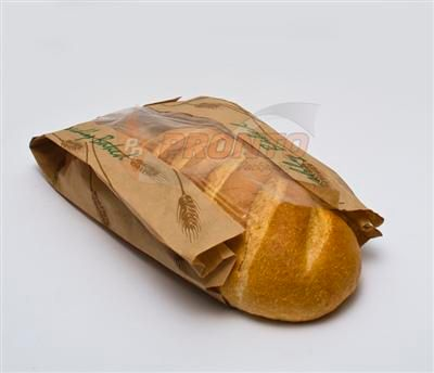 Paper Bag Cob Loaf Window Bag 390 x 200 x 110mm