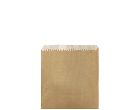 Paper Bag 1/2 Sq Grease Proof Lined Brown - 160x140mm