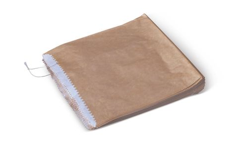 Paper Bag Brown 1 Square Grease Proof 200x175mm