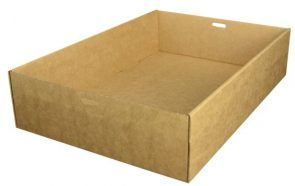 Brown Kraft Catering Tray 1 Small 255 x 153 x 80mm