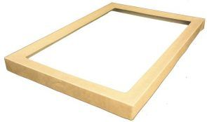 Clear Catering Tray 2 Lid Medium 363 x 255 x 30mm