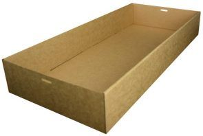 Brown Kraft Catering Tray 3 Large 558 x 252 x 80mm