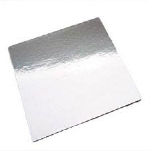 "Square Foil 4"" Cake Board H/D"