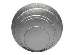 "Silver Cake Circle 6"" 2mm thick"