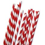 3Ply Paper Straws  Regular Red and White Stripe