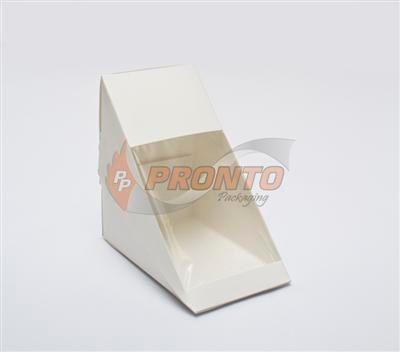 Sandwich Wedge Paper White with Window