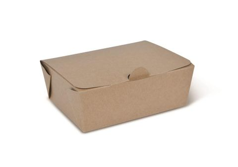 Takeaway Box Brown Small  125 x 95 x 49mm