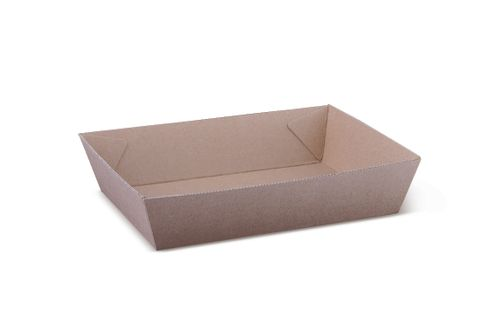 Brown Kraft Cardboard Tray #3 -180 x 134 x 45mm