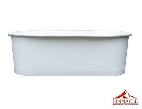 Paper PLA Rectangle Container White 750ml 173 x 120 x 57mm