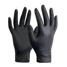 Black Nitrile Gloves Large