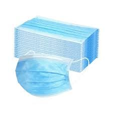 Nonwoven Face Masks - Blue 3 layers with ear loops - 100 Pack