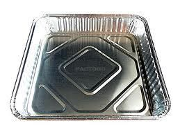 Medium Square Foil Container(FC360) 194 x 194 x 35mm