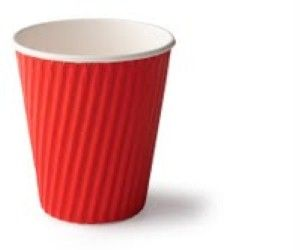 Ripple Cup 8 oz Red