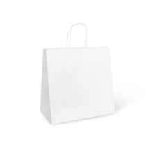 Paper Bag Jumbo White with Twist Handle 370 x 355 x 220