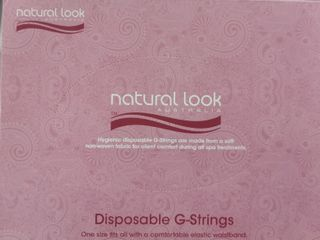 100  NATURAL LOOK  DISPOSIBLE G STRINGS