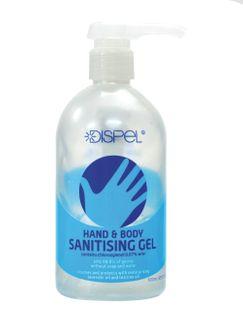 DISPEL HAND AND BODY SANITISING GEL 500ML