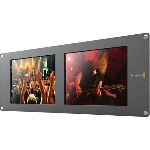 "Blackmagic SmartView Duo Rackmountable Dual 8"" LCD Monitors"