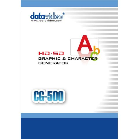 Datavideo CG-500 HD/SD Graphics Character Generator