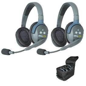 Eartec UltraLITE 2 Person System w/ 2 Double Headsets