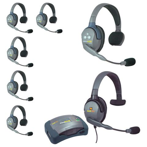 Eartec UltraLITE HUB 7-Way System (6xSngl,1xSngl 4G Wired)