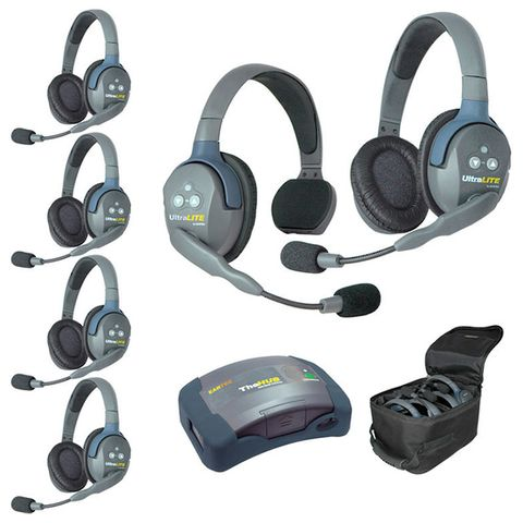 Eartec UltraLITE HUB 6 Way System (1xSngl,5xDbl)