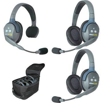 Eartec UltraLITE 3 Person System w/ 1 Single / 2 Dbl