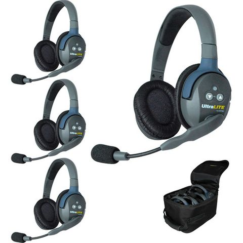 Eartec UltraLITE 4 Person System w/4 Double HeadSets