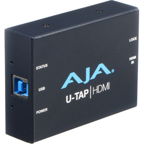 AJA U-TAP USB 3.0 Powered HDMI HD/SD Capture Device
