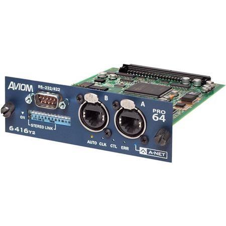 Aviom 6416y2 16x16 A-Net Pro64 Interface Card