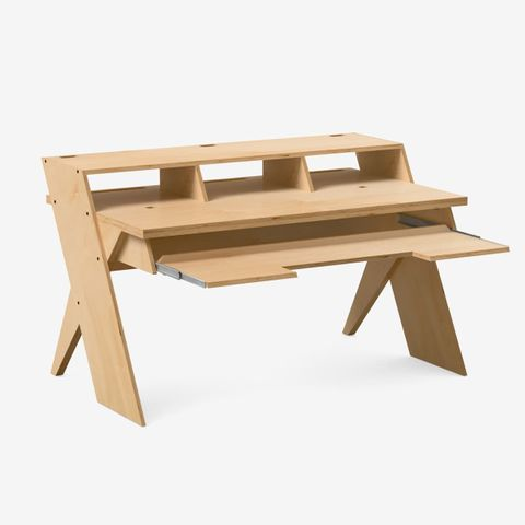 Output Platform Studio Desk with Keyboard tray (Natural)