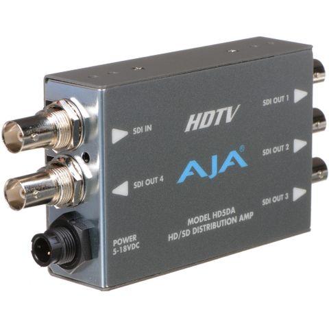 AJA HD5DA 1x4 HD/SD-SDI Distribution Amplifier / Repeater