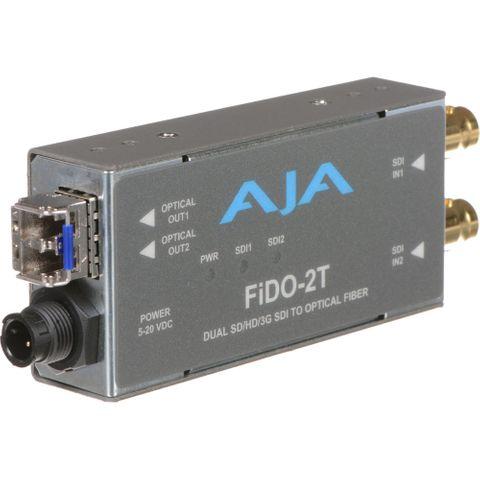 AJA FiDO Dual-Channel 3G-SDI to LC Fiber Mini Converter