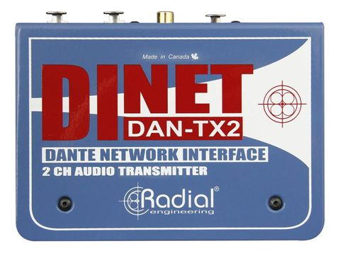 Radial DiNET DAN-TX2 2-Channel Dante Network Transmitter