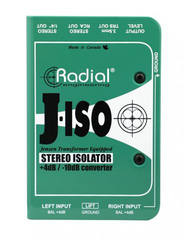 Radial J-ISO Stereo +4dB to -10dB converter