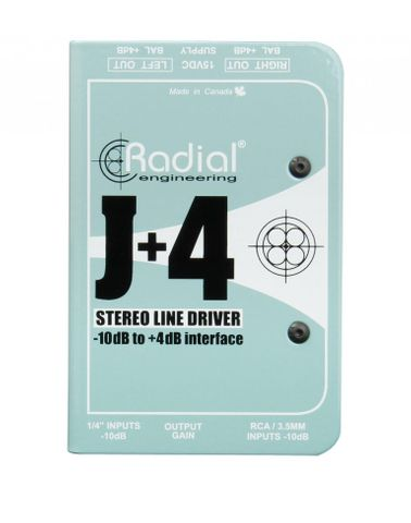 Radial  J+4 Balanced Signal Driver - Stereo Preamplifier